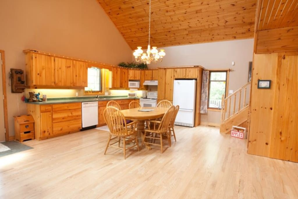large open concept country kitchen