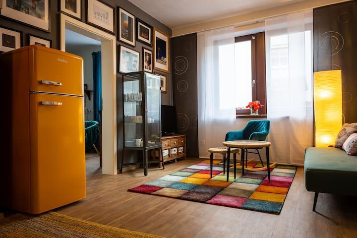 Cooles Apartment unter historischem Dach