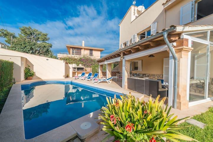NEW!HOLIDAYS VILLA MANUEL DE L'ALZINA,POOL&BEACH