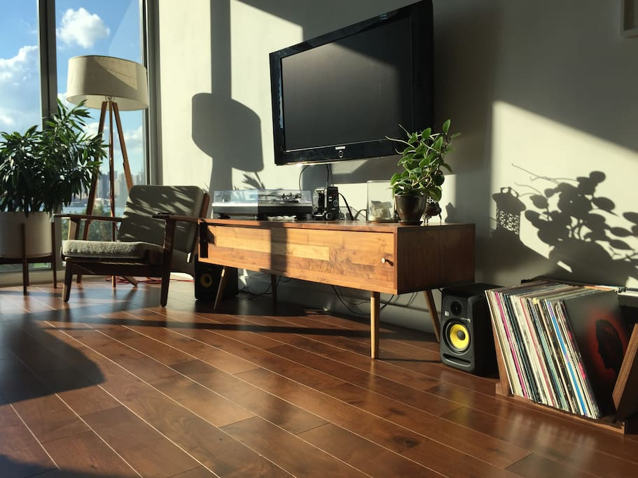 Sound system, TV & Records