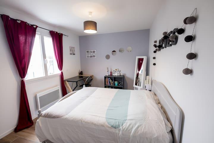 1 à 2 chambres, SdB WC privés +terrasses aménagées