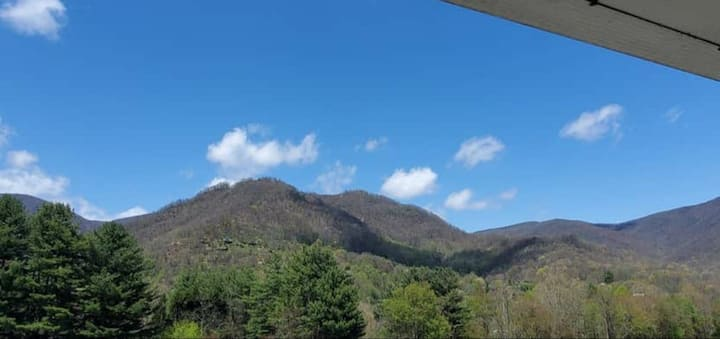 """Amazing view of Ghost Town Mtn. from the Hot Tub"""