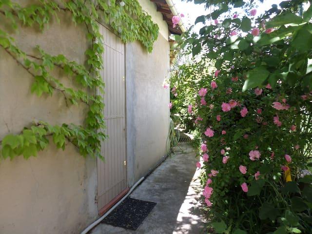 Studio calme avec petit  coin jardin