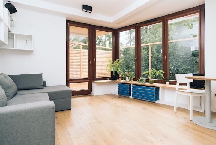 Modern apartment to a high standard.