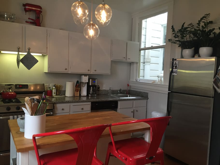 Kitchen is spacious with all amenities
