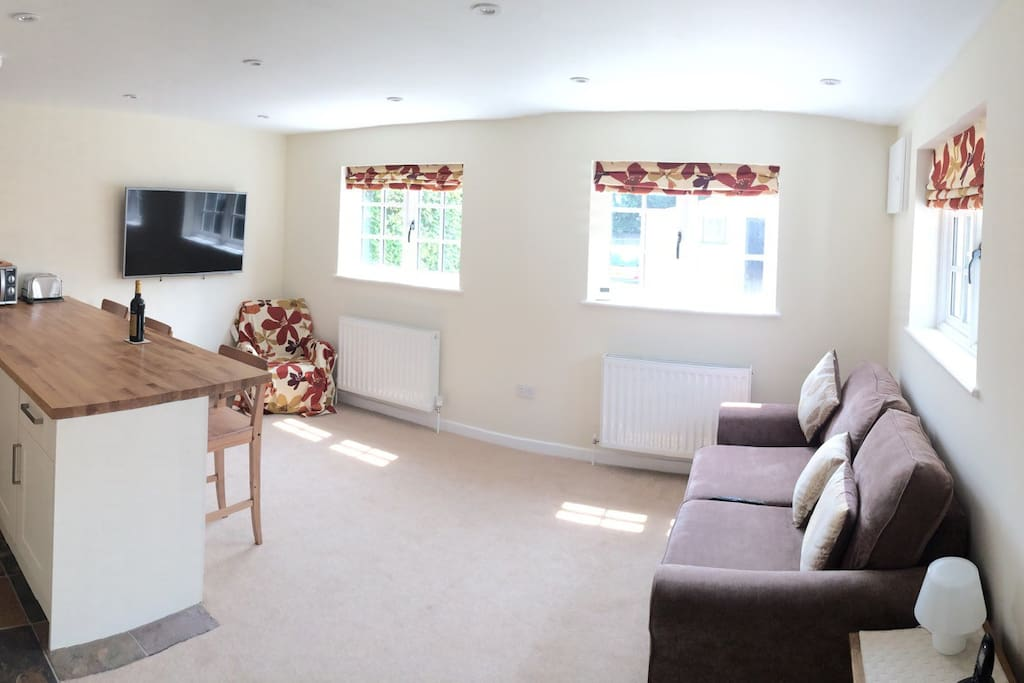 Panorama view of the living area