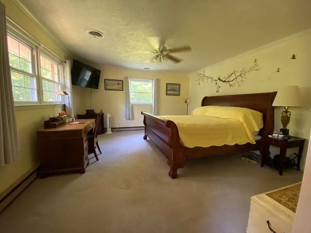 Bedroom three with King mattress and full bath