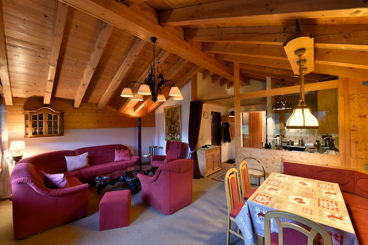 Cozy roof apartment in Täsch, near Zermatt - Täsch - Appartement
