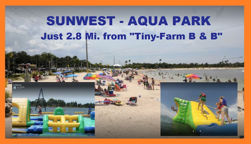 Sunwest Aqua Park with Obstacle Course on the Ocean and Hudson Beach are just Minutes away.