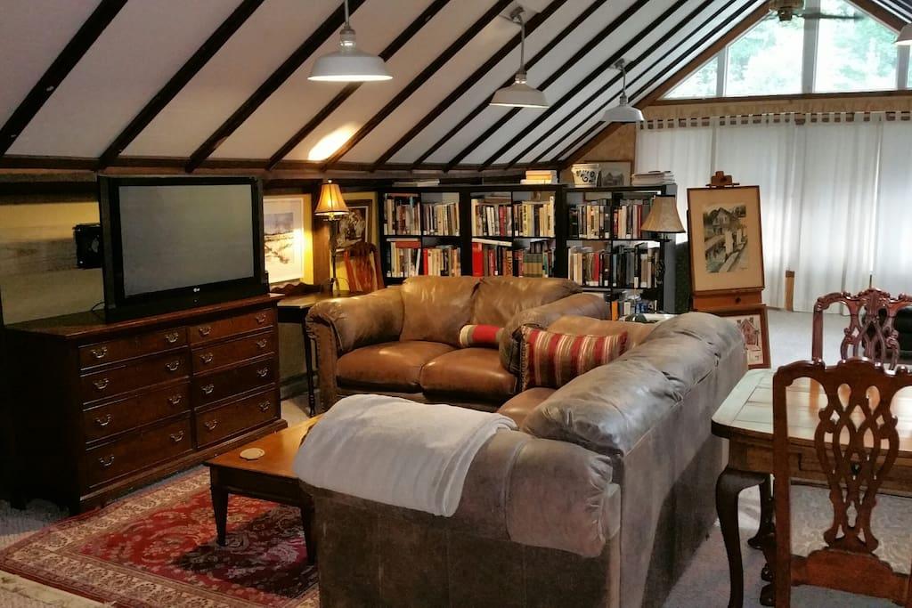 Private living area in loft