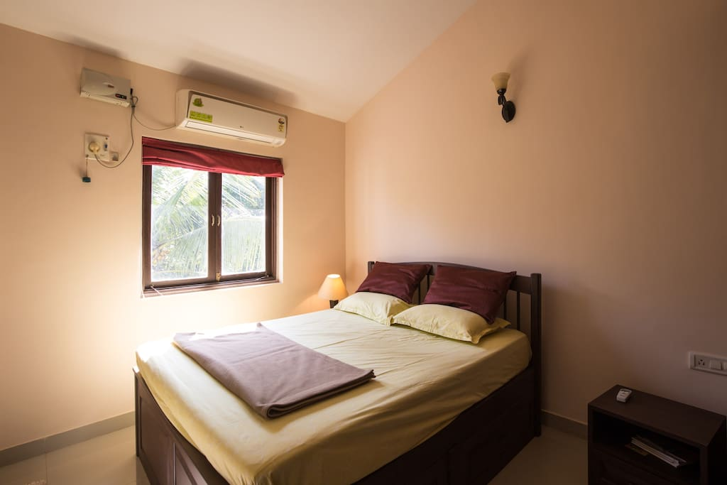 Bedroom with natural light streaming in
