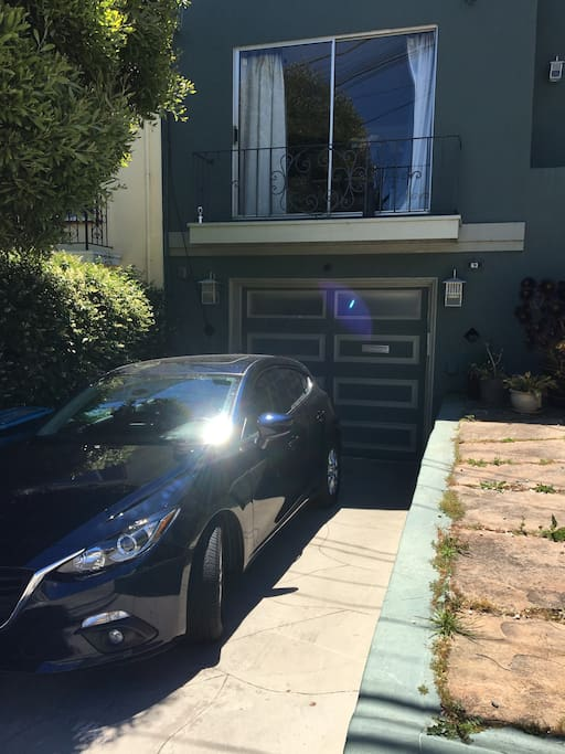 Entrance through the garage