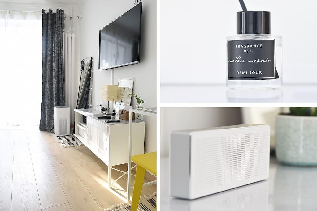 空气净化器+小苍兰的香薰给您带来更清新舒适的环境