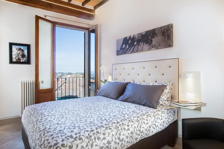 B&B il Barbero: Double with balcony