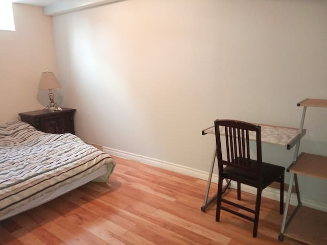 Spacious and bright basement room in a townhome