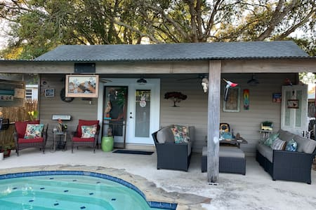 "The Bayou Poolhouse, ""Come stay with friends""."