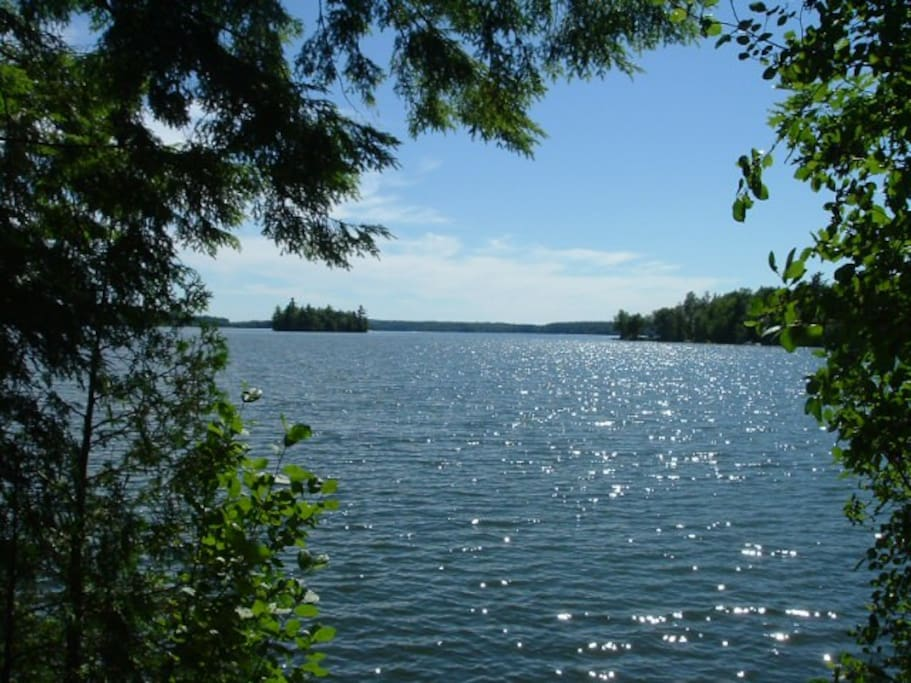 Nature Lovers Paradise Lake Island Cabins For Rent In West Gardiner Maine United States