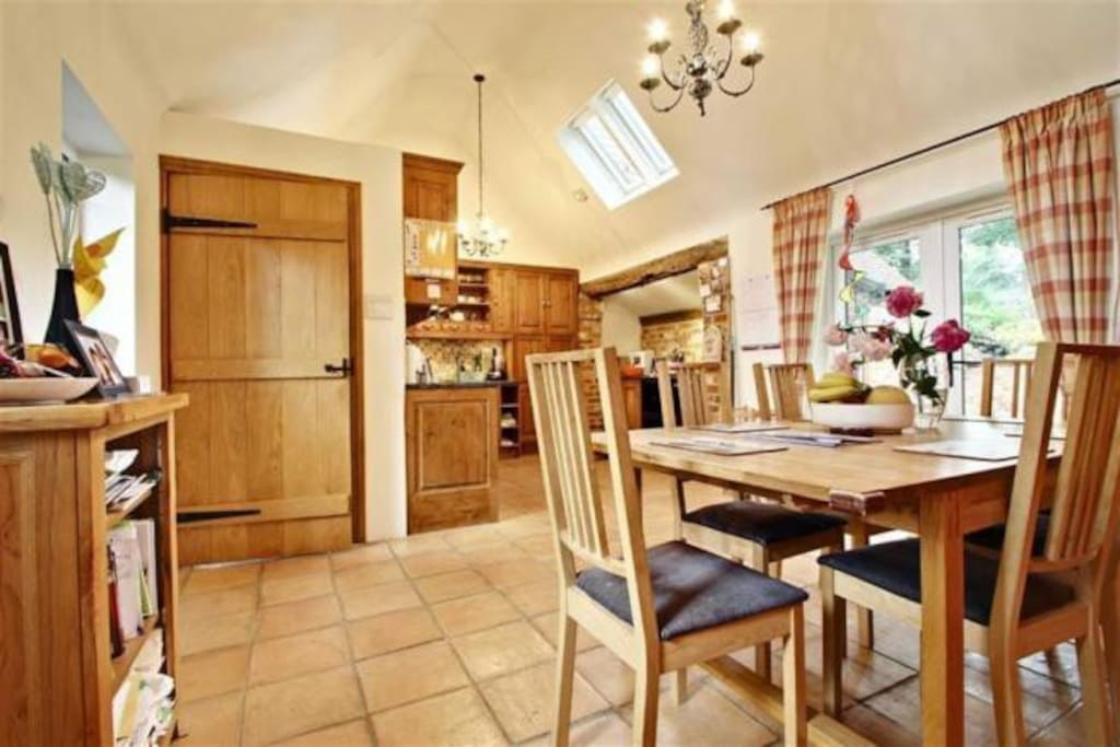 Rustic Kitchen with Aga