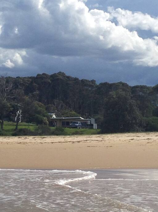 View of the house from Mystery Bay beach