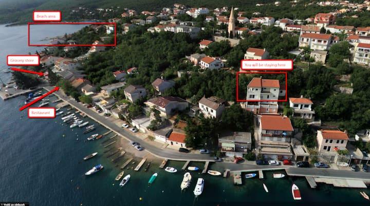 Apartment Jadranovo by the sea and near mountains