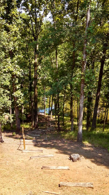 Walking trail to fishing deck