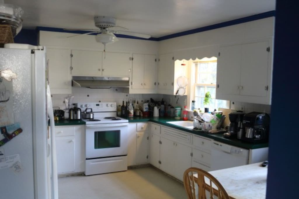 You can use the kitchen.
