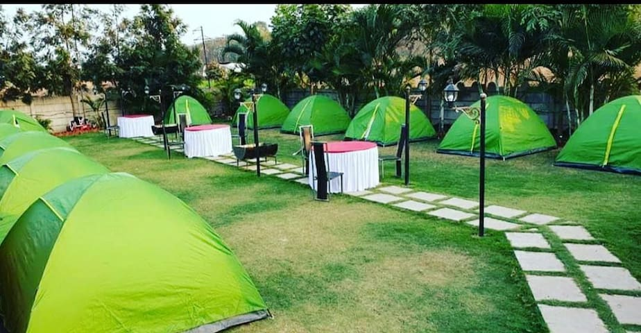 Skyrich tent Camping Near Sula Vineyards