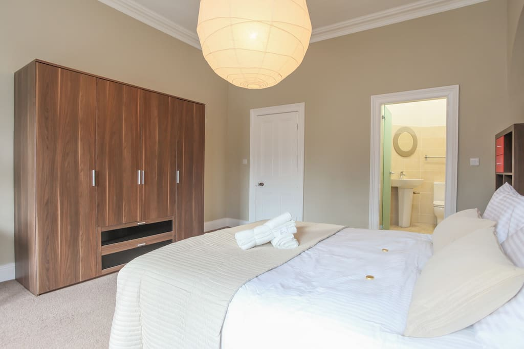 Master bedroom with ensuite and wet room