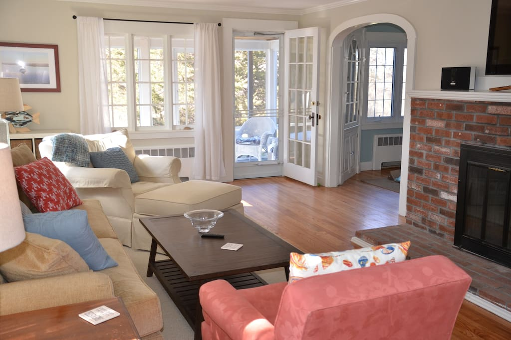 Comfy Living Room with Screened in Porch