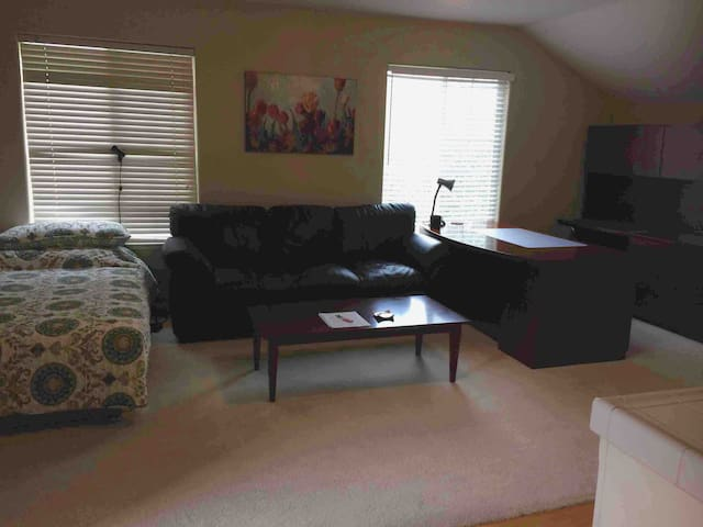 Private studio with kitchen and bathroom and more!