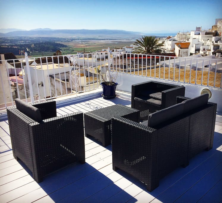 Sofa on the Rooftop Terrace with stunning view