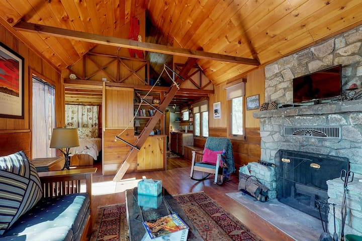Dog-friendly cabin with peaceful location, secluded atmosphere near town