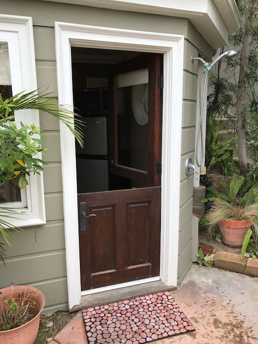 Dutch Door. Screens and air conditioning not needed in Laguna Beach