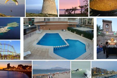 Swimming Pool, 200 m from promenade and sea front - Santa Pola - Daire
