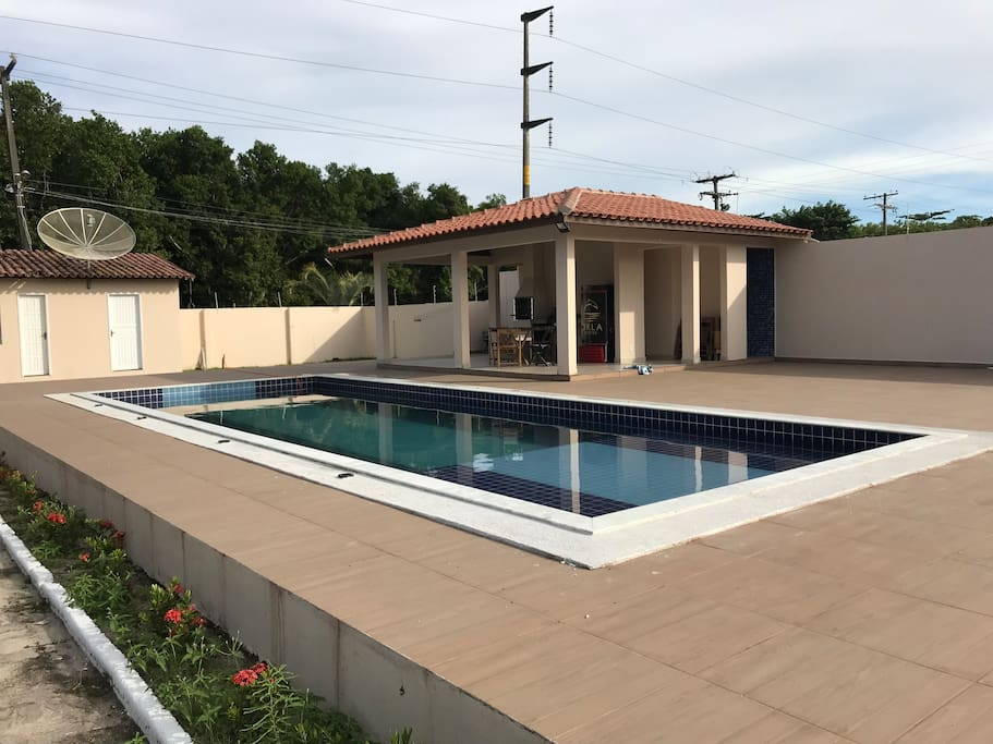 Piscina, churrasqueira e Freezer