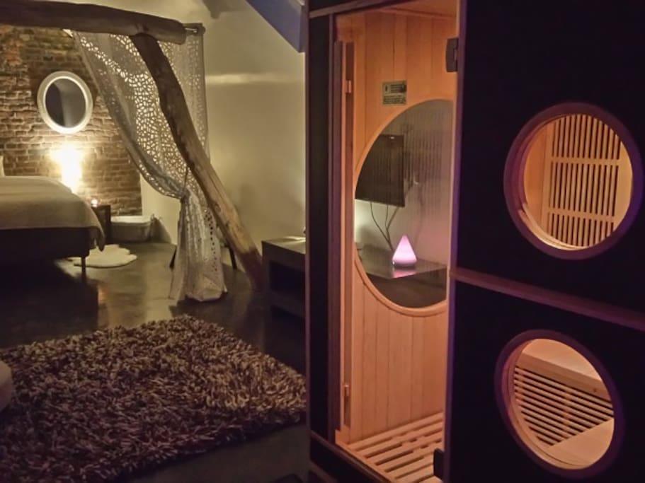 1er étage lumières tamisées/Sauna