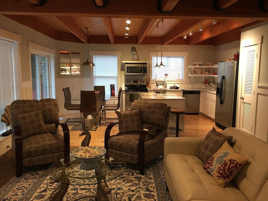 Light & spacious living area.