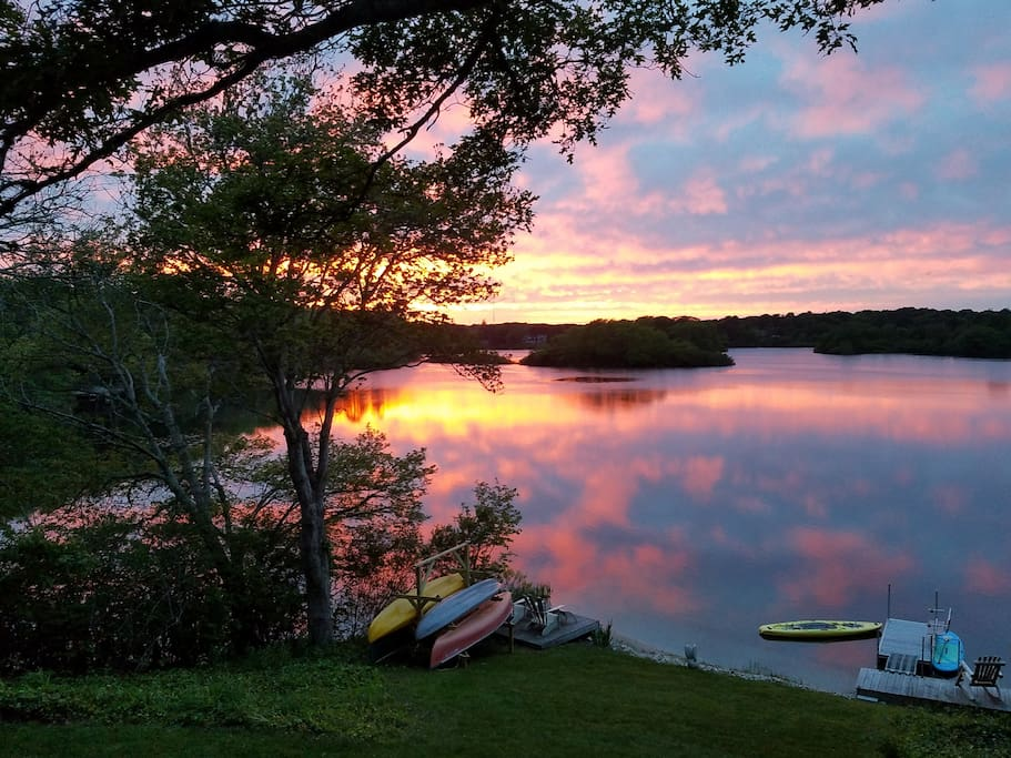 Prettiest waterfront sunsets you've ever seen...sit out on the deck or dock and enjoy :)