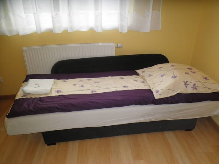 Wieliczka: private room - 3 single beds