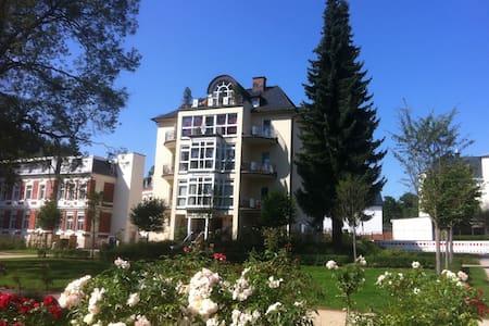 82 qm Ferienwohnung direkt am Rosengarten 5 Sterne - Bad Elster - Квартира