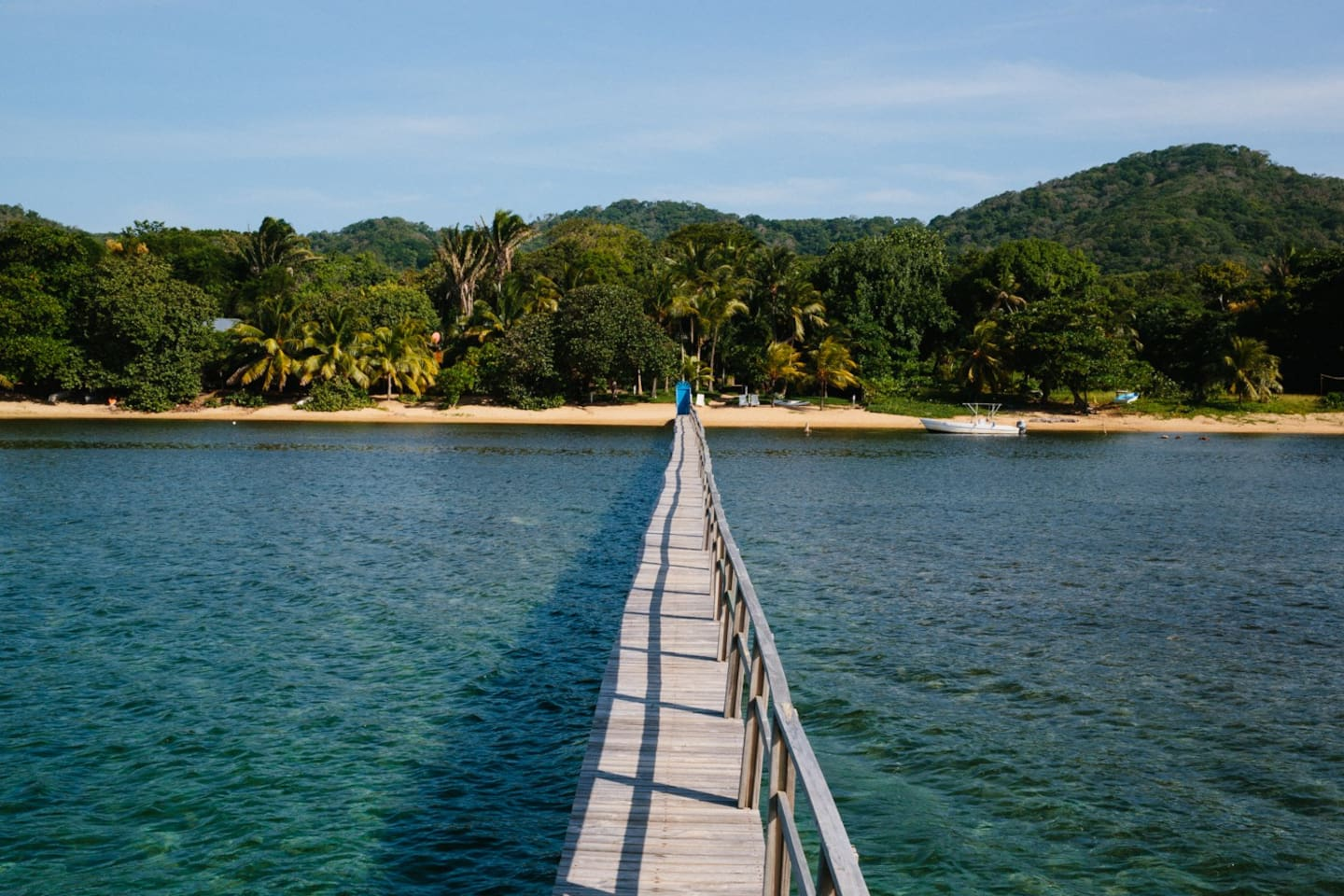 View from the Palapa of our Private Dock