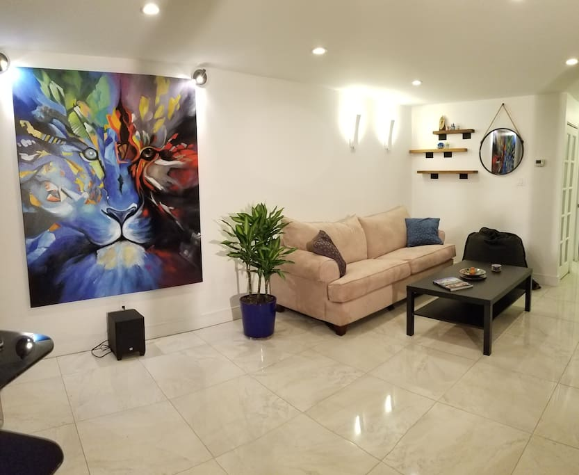 Salon with sofa/bed