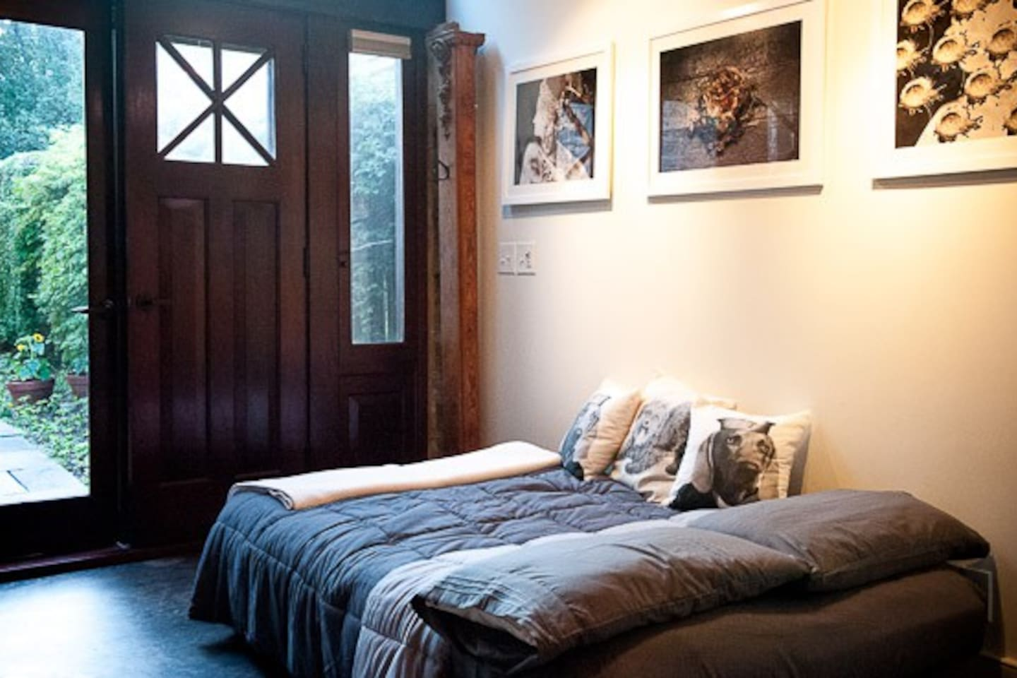 Comfortable studio space with abundant available light.