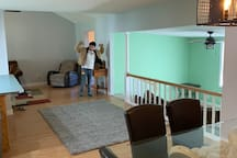 Guest room, with bathroom, living room,nd kitchen
