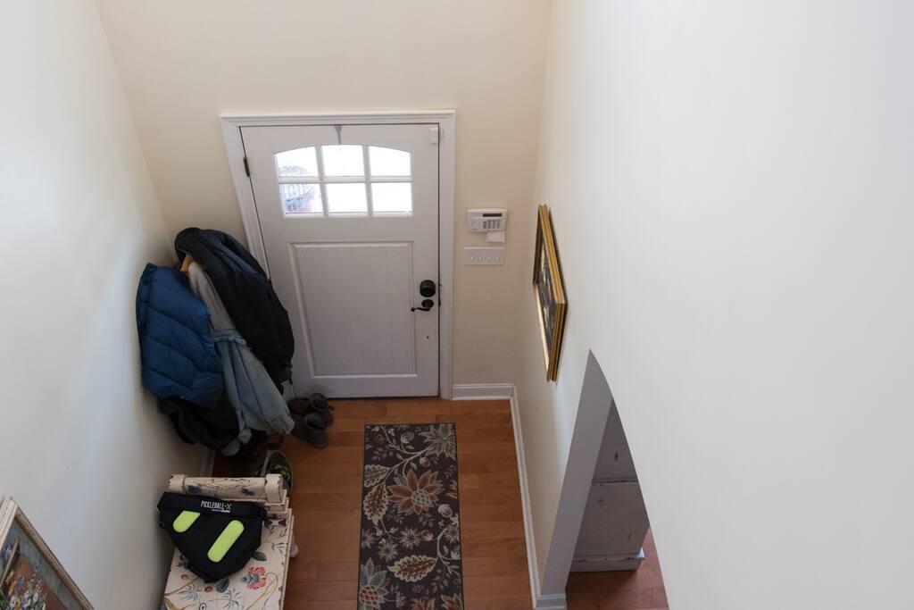 Front Door From Upstairs