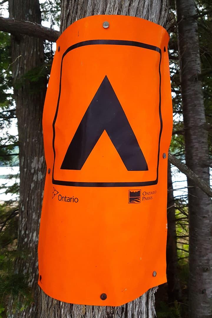 Algonquin campsite.