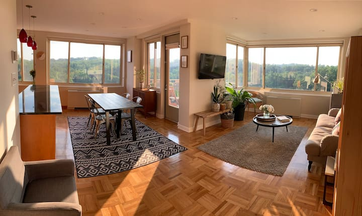 Spacious 2BR Apt w/ stunning view and parking