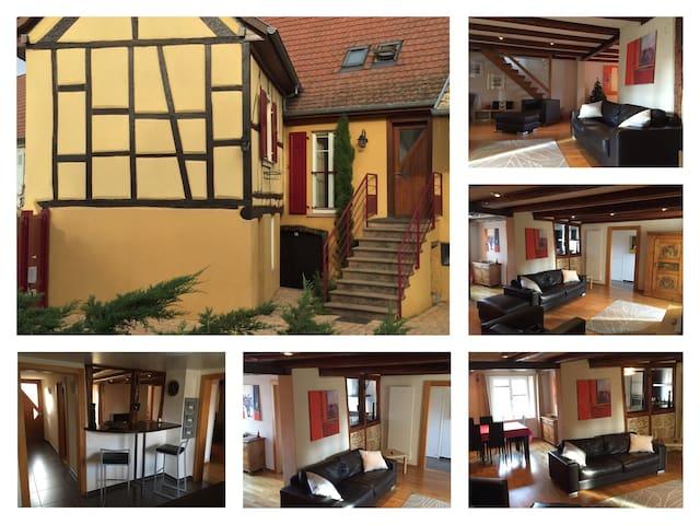 Chaleureux et spacieux appartement - Herrlisheim-près-Colmar - Apartamento