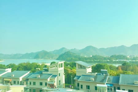 风景如画般的神仙居,高级住宅楼里的复式大房间 - xianju - Apartament