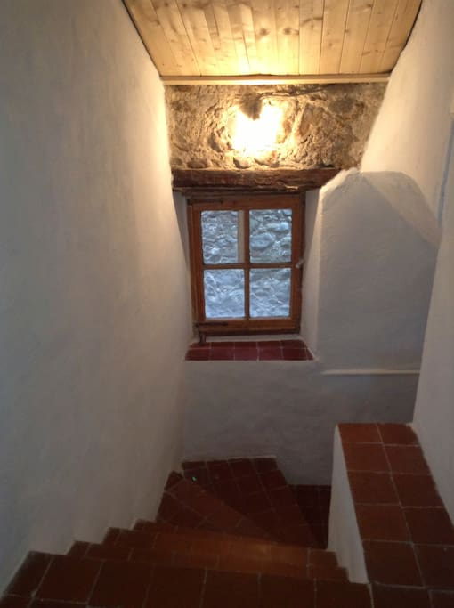 Entrance Stairway in the apartment with large window